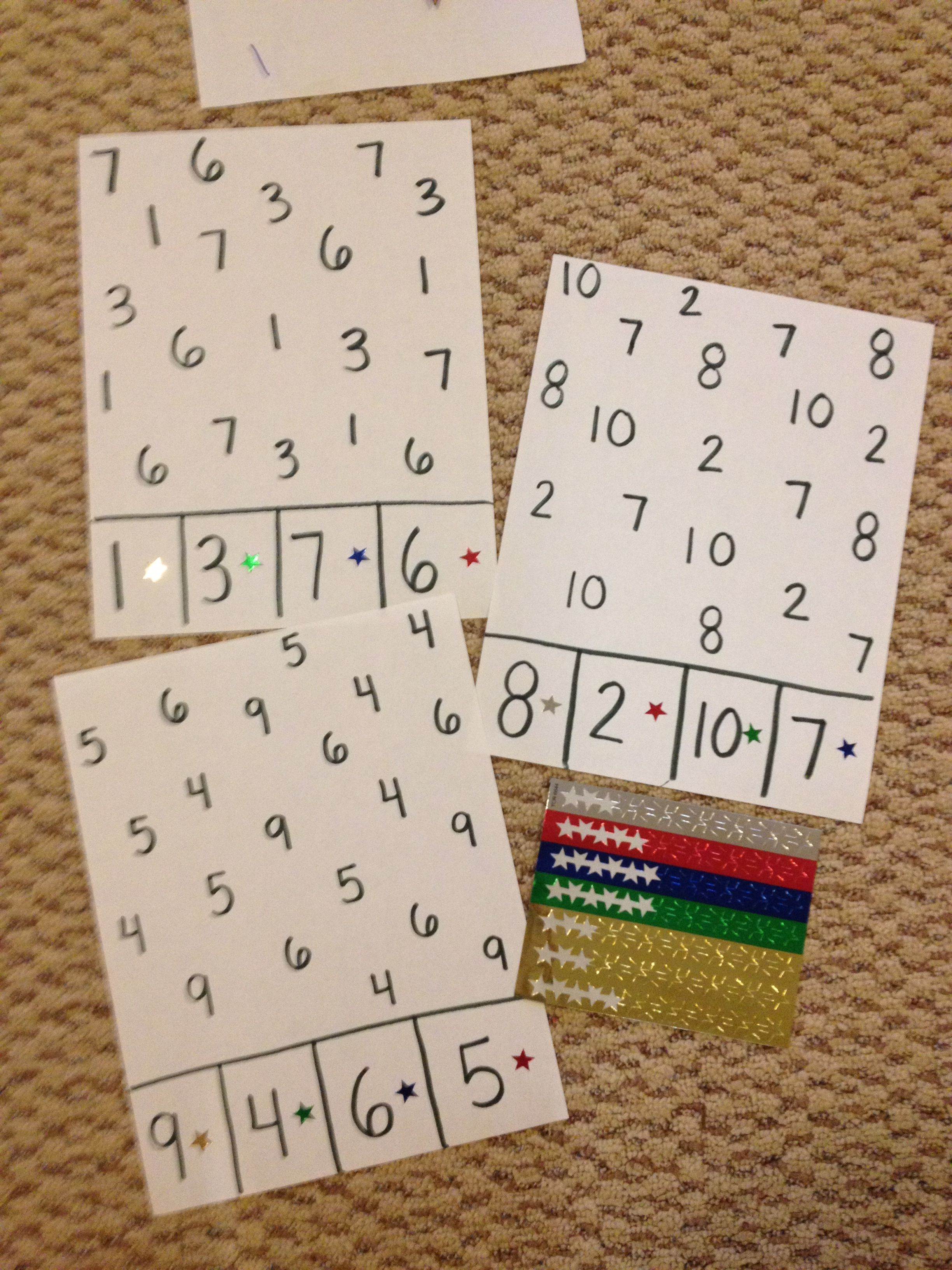 Numeral Recognition Worksheet