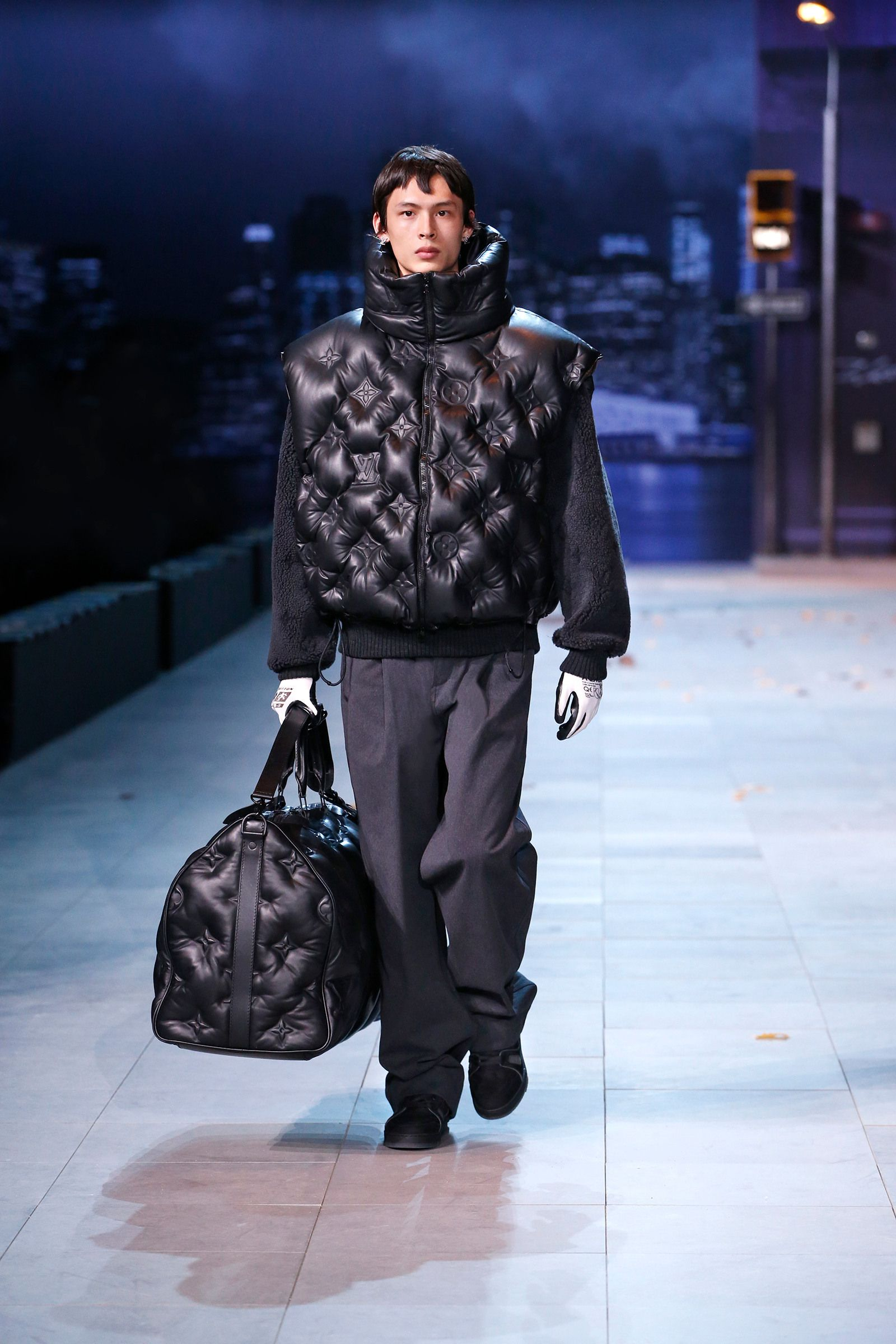 77de36bb57 A look from the Louis Vuitton Men's Fall-Winter 2019 Collection ...