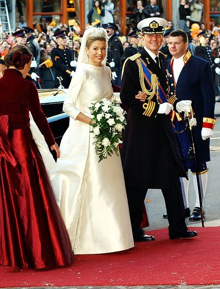 Princess Maxima of the Netherlands also wore a Valentino wedding dress when she wed Prince Willem Alexander