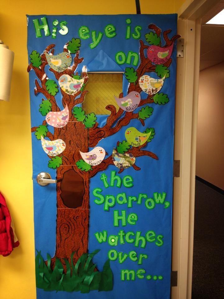 Owl Classroom Door Decorations ~ Preschool door decorations spring for
