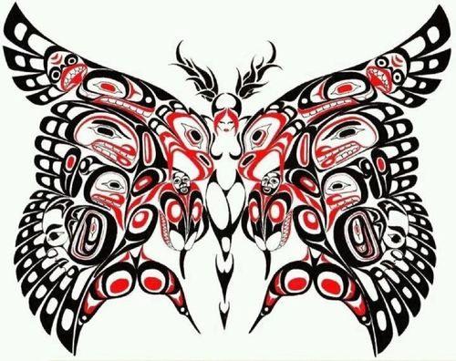 Native Temporary Tattoo Hummingbird Salish Design Canadian Tattoo Pictures Native American Tattoos Native American Tattoo Native Art