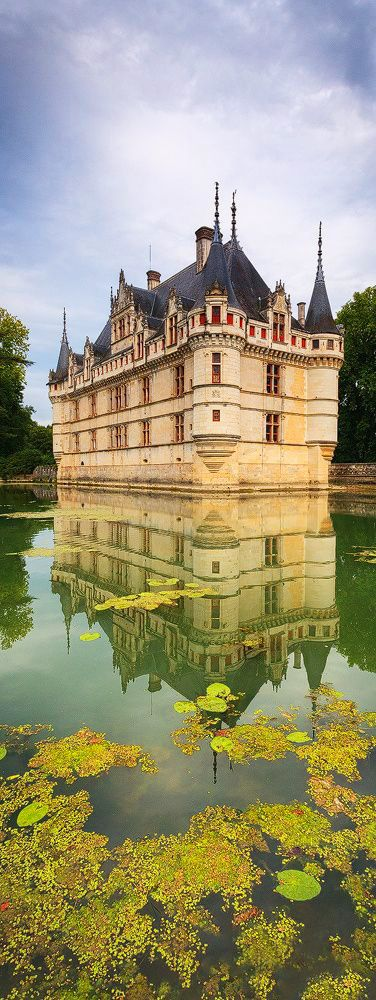 Chateau d'AzayleRideau, Loire Valley, France French