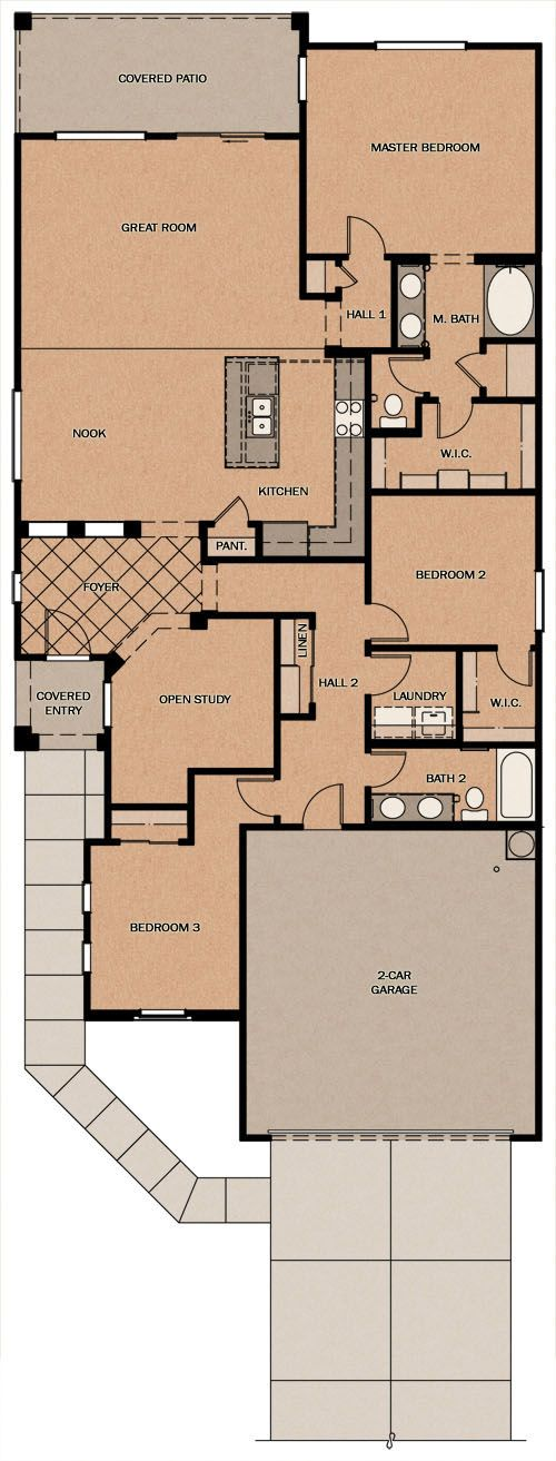 Marquesas Paradise At Ironwood Crossing By Fulton Homes Fulton Homes Floor Plans Great Rooms