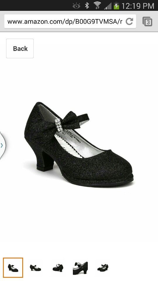 317c9d75492a Black glitter high heels for little girl