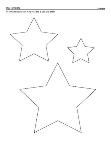 Star Template A Printable Star Pattern For Kids Spoonful Star Template Paper Crafts Applique Templates
