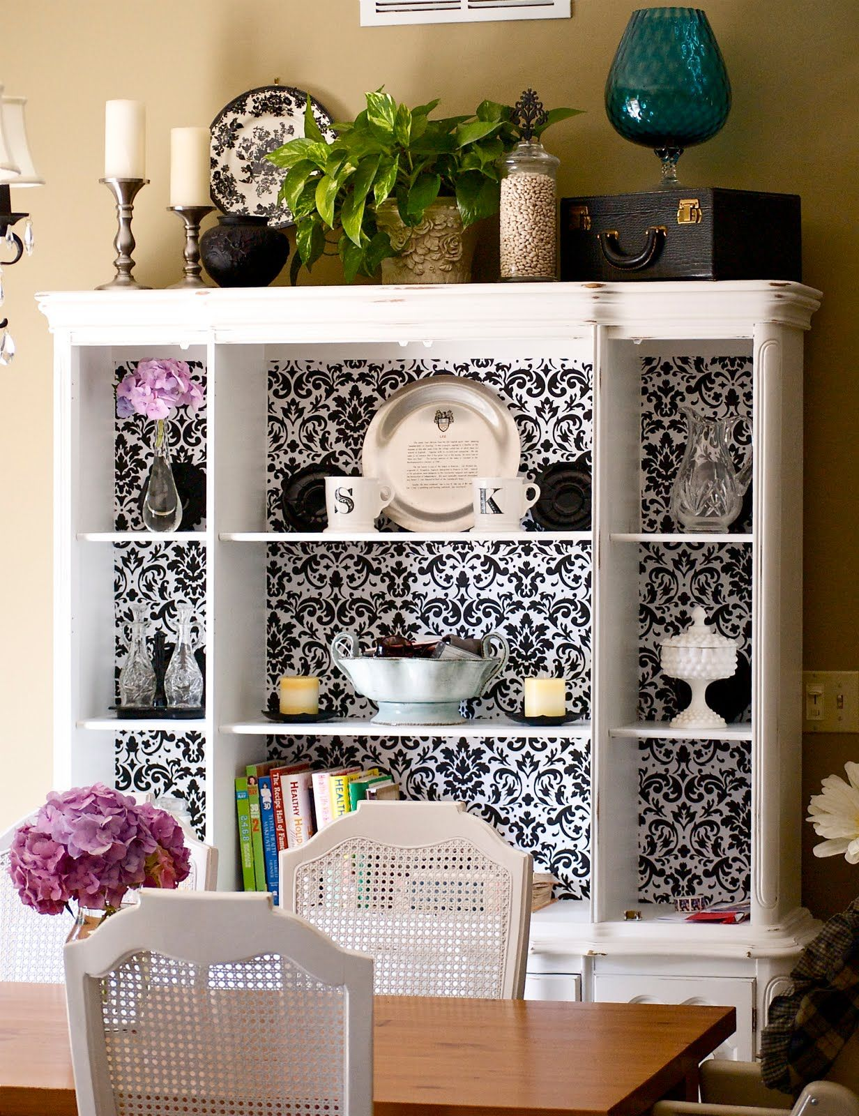 Lining A China Hutch With Thick Paper