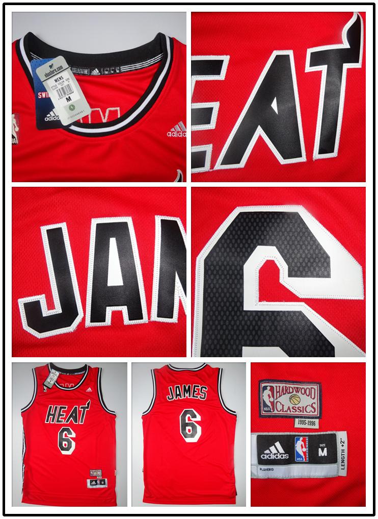 8. LEBRON JAMES Miami  6 Jersey - Red ORIGINAL 1990 S VINTAGE JERSEY ... 2857edd31