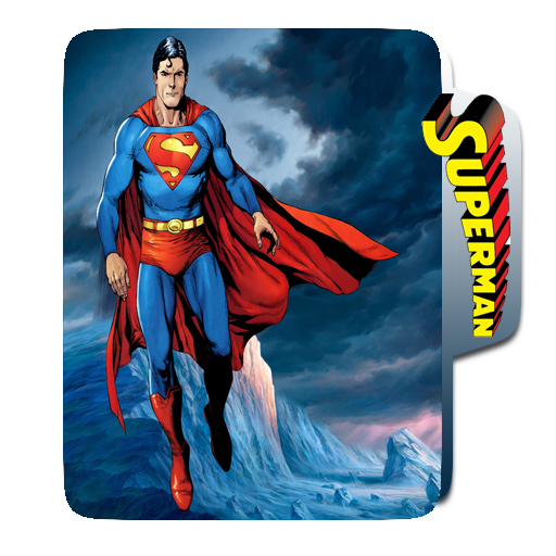 SUPERMAN Comic books, Batman, Folder icon