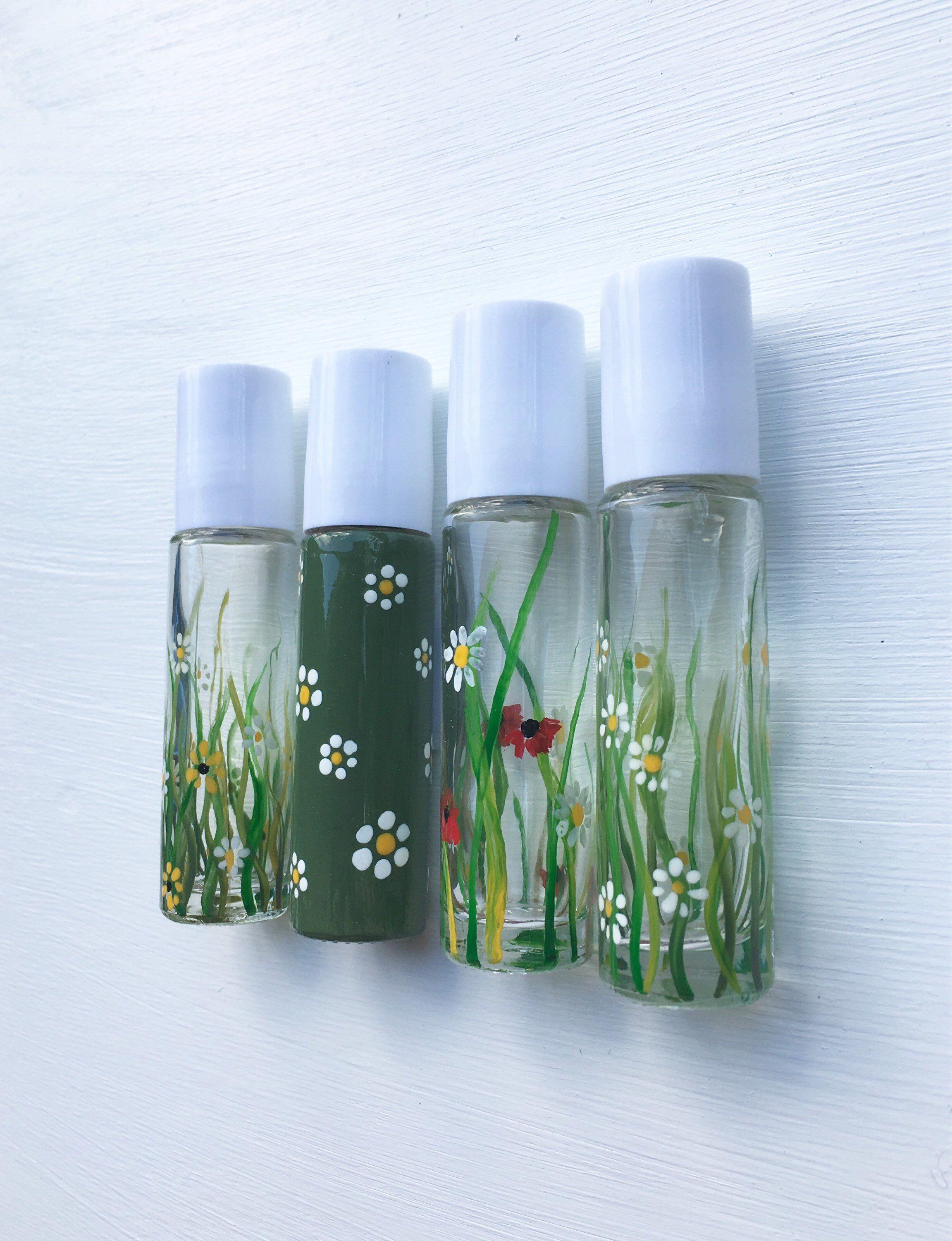 10ml Essential Oil Roller Bottle Hand Painted And Great For Aromatherapy And Natural Well Essential Oil Roller Bottle Essential Oil Roller Roller Bottle Blends