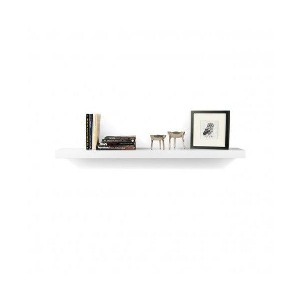 Balda 120cm shelf White (425 CNY) ❤ liked on Polyvore featuring home, home decor, small item storage and shelves