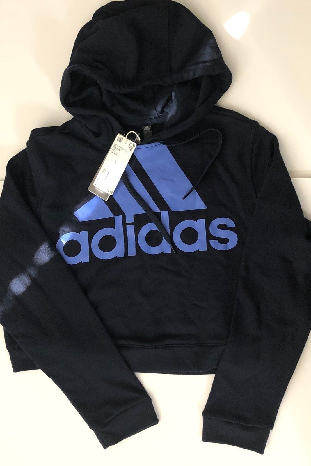 Nwt Adidas Cropped Hoodie Us Large Color Navy Blue Adidas Cropped Hoodie Adidas Crop Cropped Hoodie [ 1600 x 1069 Pixel ]