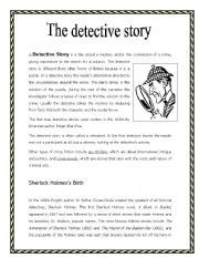english worksheet the detective story enkku pinterest worksheets english and reading. Black Bedroom Furniture Sets. Home Design Ideas