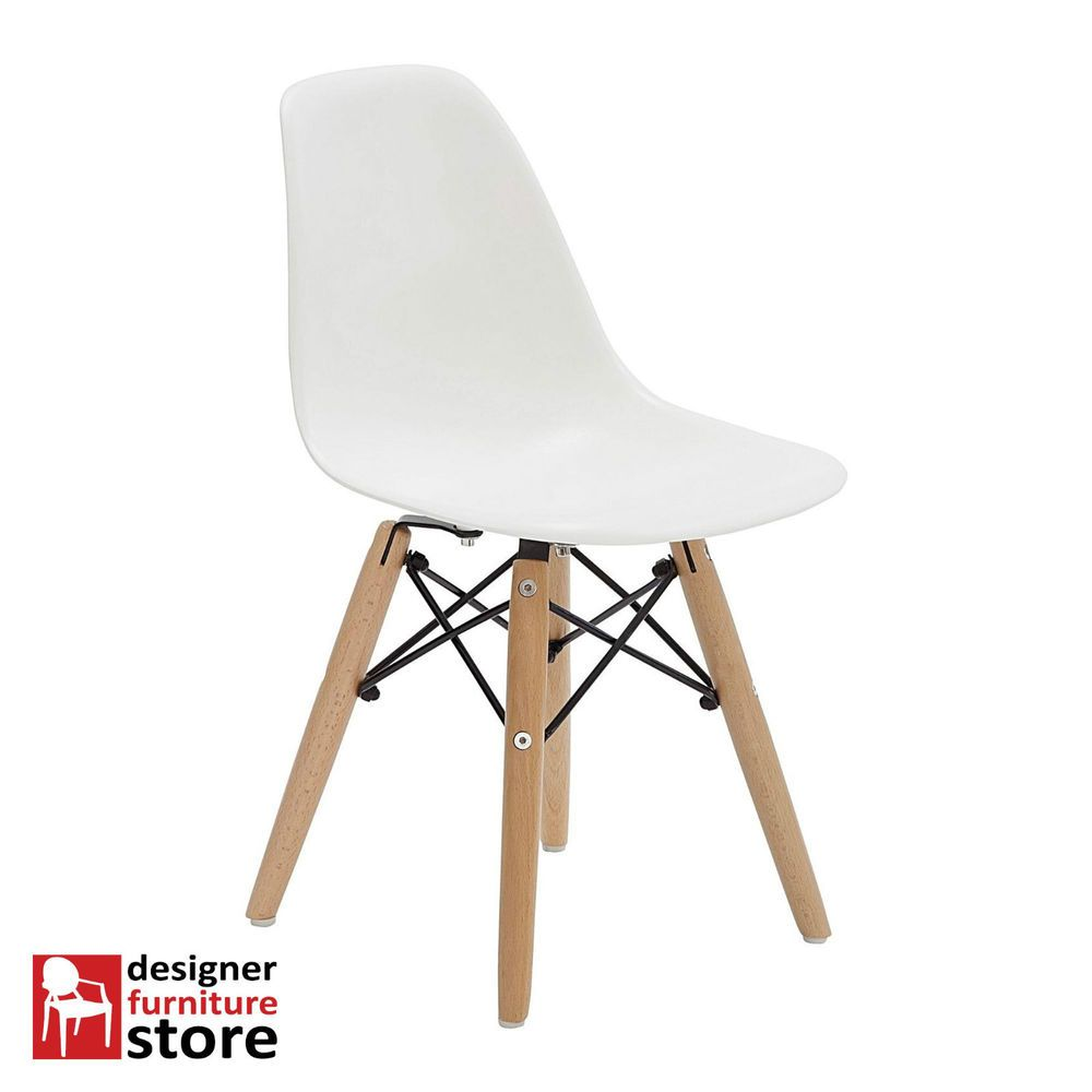 Eames Chair Replica Ebay Replica Charles Eames Dsw Kids Chair Timber Legs White