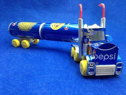 Como Hacer Un Camion Pepsi Con Motor De Corriente Continua Youtube