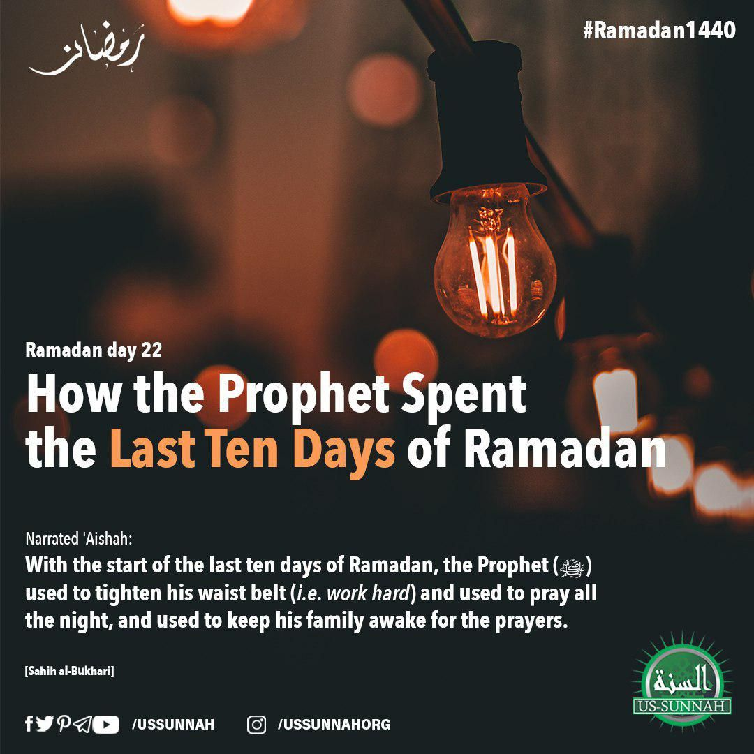 Ramadan Day 22 How The Prophet Spent The Last Ten Days Of Ramadan Ramadan Quotes Ramadan Day Ramadan