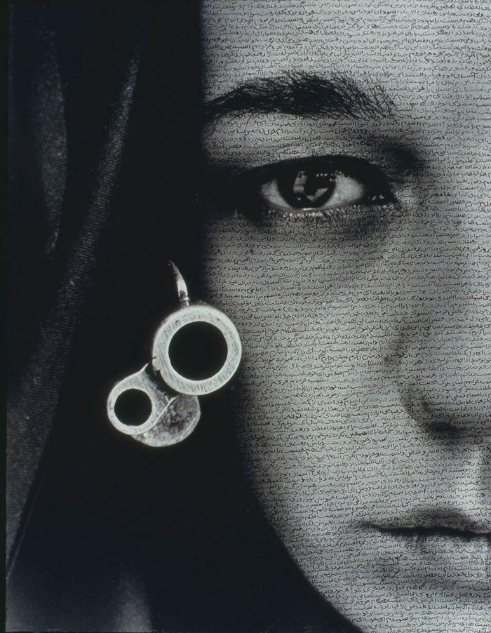 شيرين نشأت ايران Drop Earrings Earrings Oval Sunglass