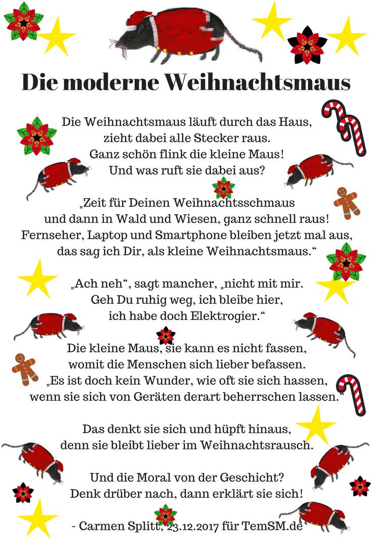 Moderne Weihnachtsgedichte.Die Moderne Weihnachtsmaus Zitate Sprüche Weisheiten Quotes