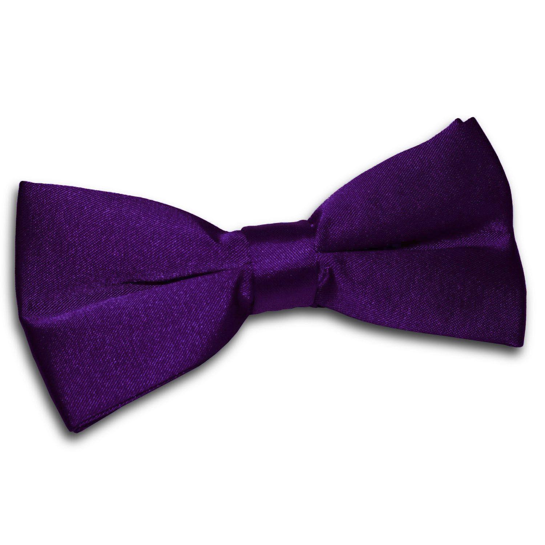 Boys Classic Tie Plain Tie Boys Purple Tie Boys Purple Pocket Square