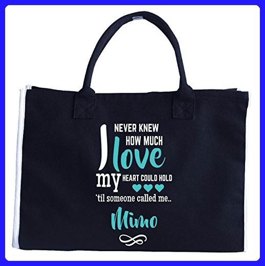 I Never Knew How Much Love Heart Could Hold Mimo - Tote Bag - Top handle bags (*Amazon Partner-Link)