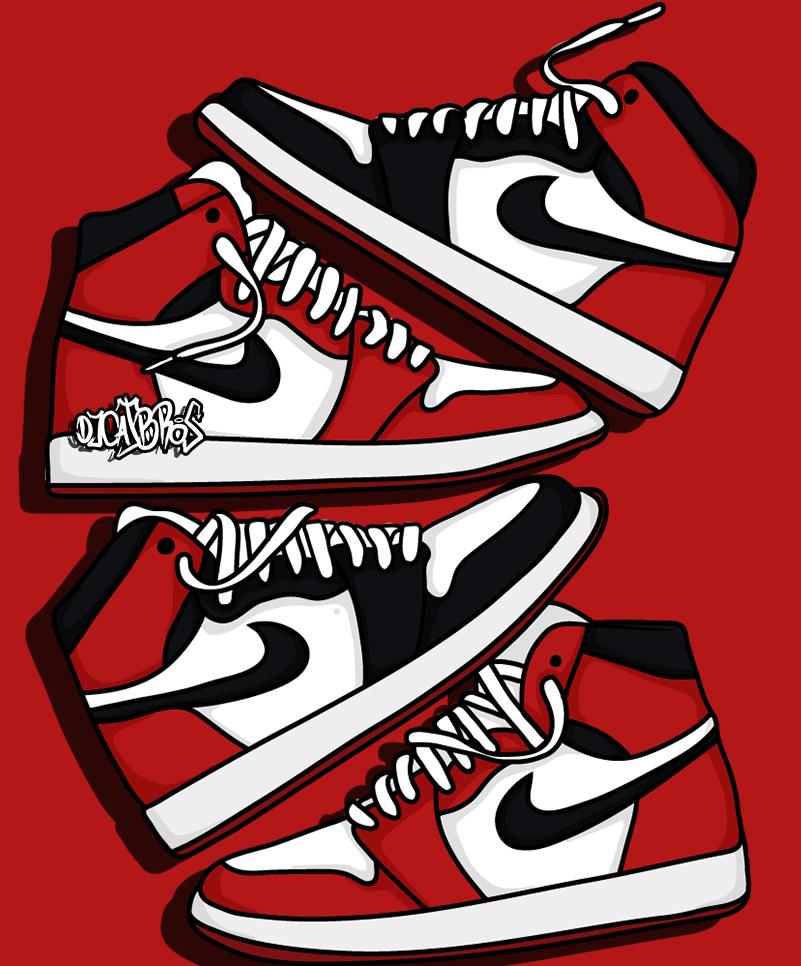 Jordan Nike Wallpaper Draw Illustration Ilustracion Jordan1