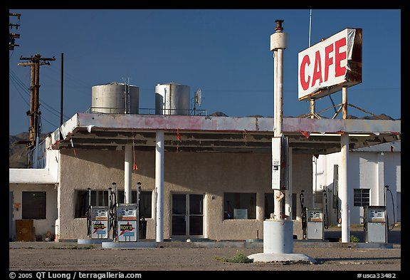 cafe and gas station historic route 66 amboy california usa one rh pinterest com