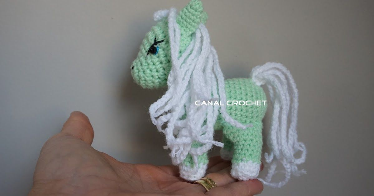 CANAL CROCHET: Pony amigurumi tutorial | muñecos | Pinterest | Blog ...