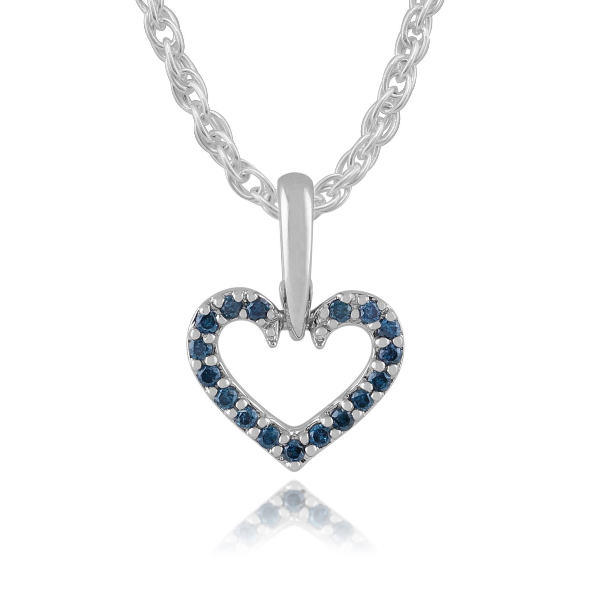 Blue diamond heart pendant in white gold from gemondo jewellery blue diamond heart pendant in white gold from gemondo jewellery mozeypictures Image collections