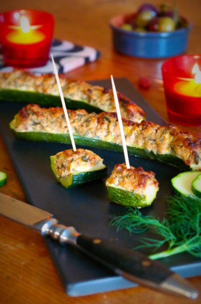 Photo of Stuffed zucchini with tuna – low carb – so feel