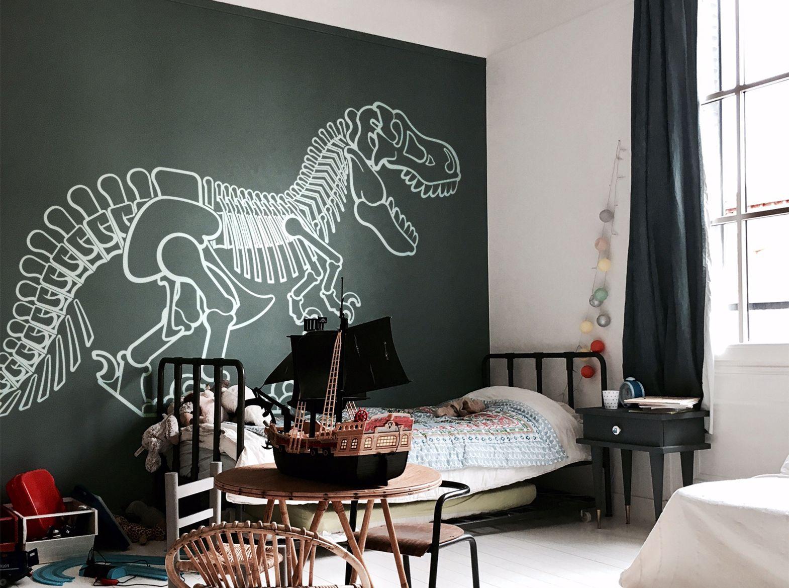 stickers dinosaure t-rex (XXL)  Deco chambre garcon, Chambre