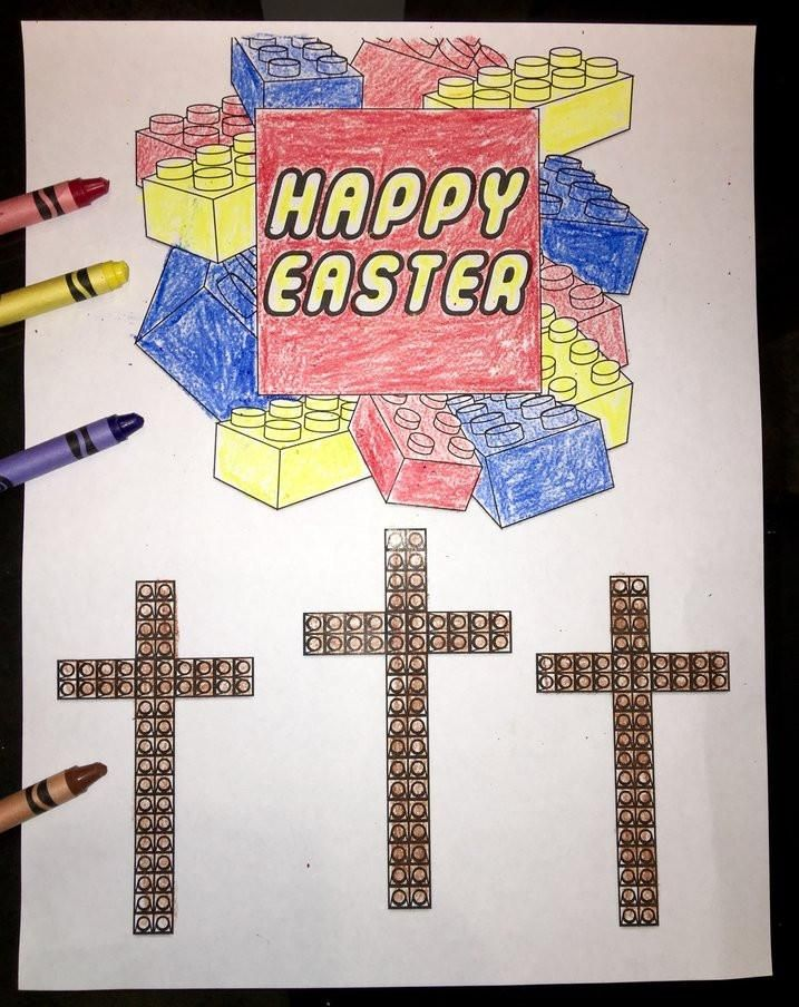FREE Happy Easter Lego Coloring Page Bible Coloring Pages - copy free coloring pages for easter religious