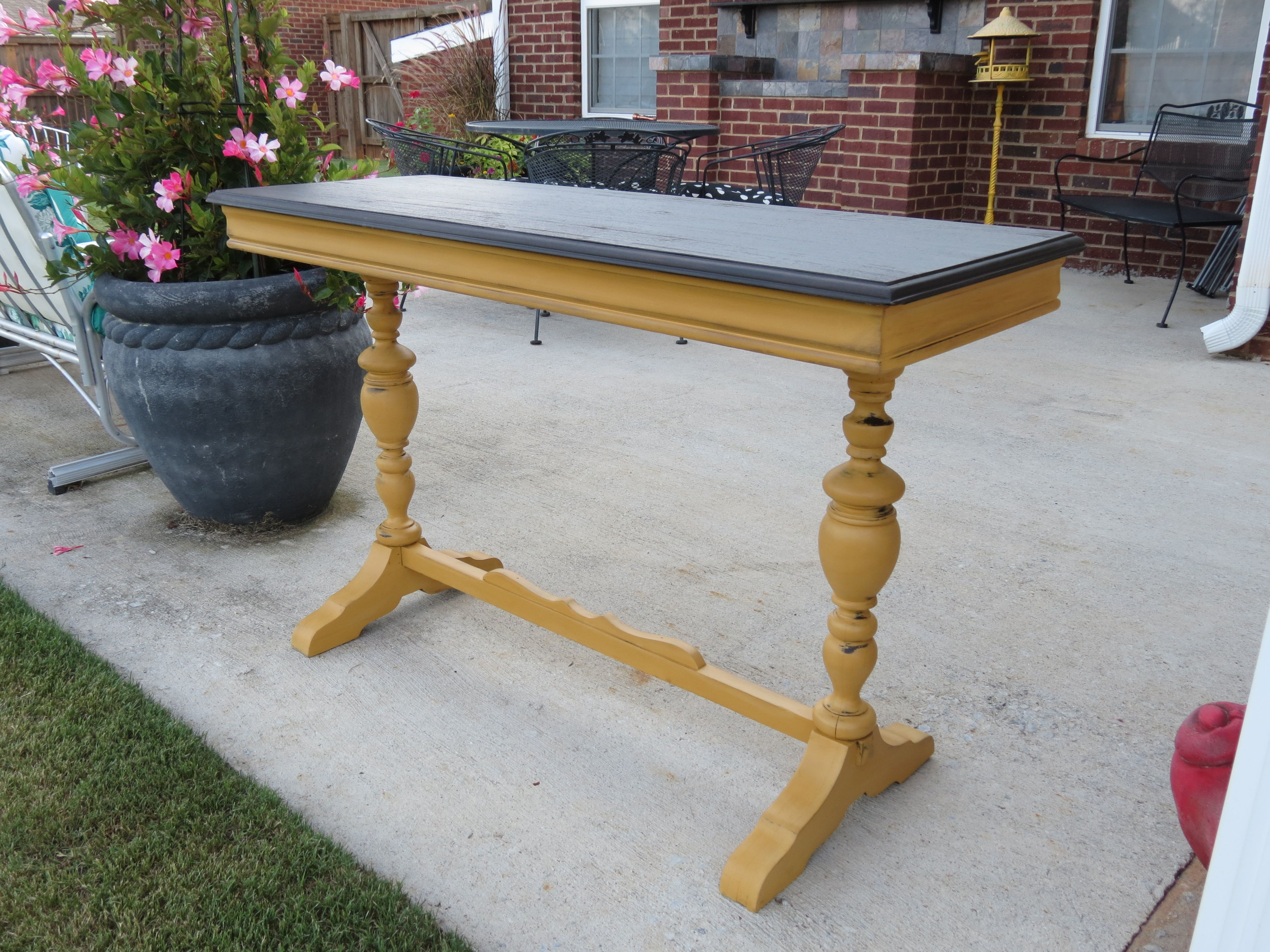 Milk painted sofa table mustard yellow 47x18 and 30t sold www milk painted sofa table mustard yellow 47x18 and 30t sold geotapseo Image collections