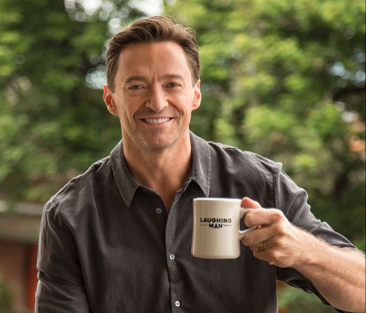 On The Record Hugh Jackman Tells Us Why His Coffee Company Is Getting More Attention Than His Movies Spy With Images Hugh Jackman Laughing Man Coffee Jackman