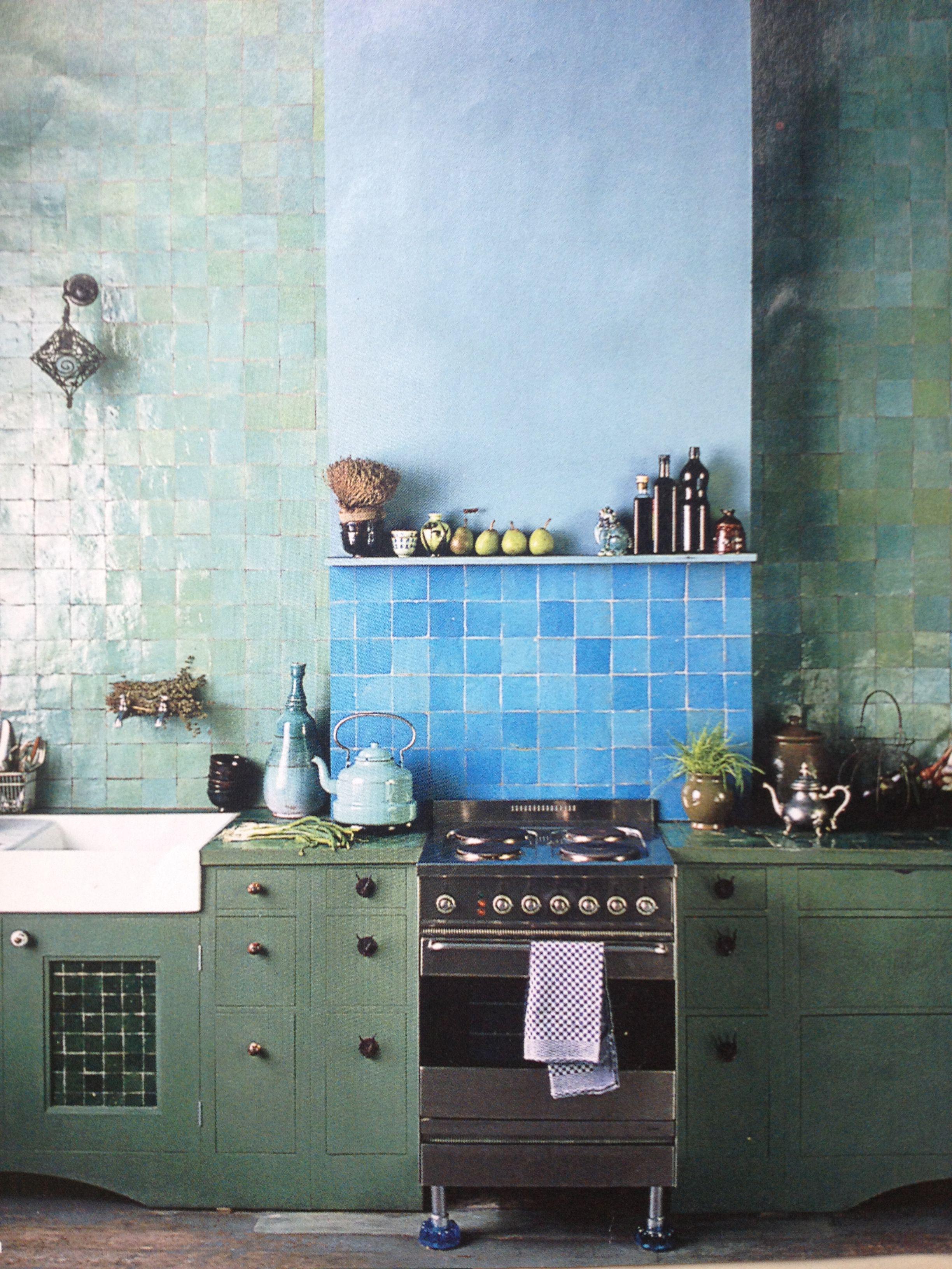 Emerie & Cie TEGELS zelliges nr 19 Vert blue en nr 20 Blue Vert ...