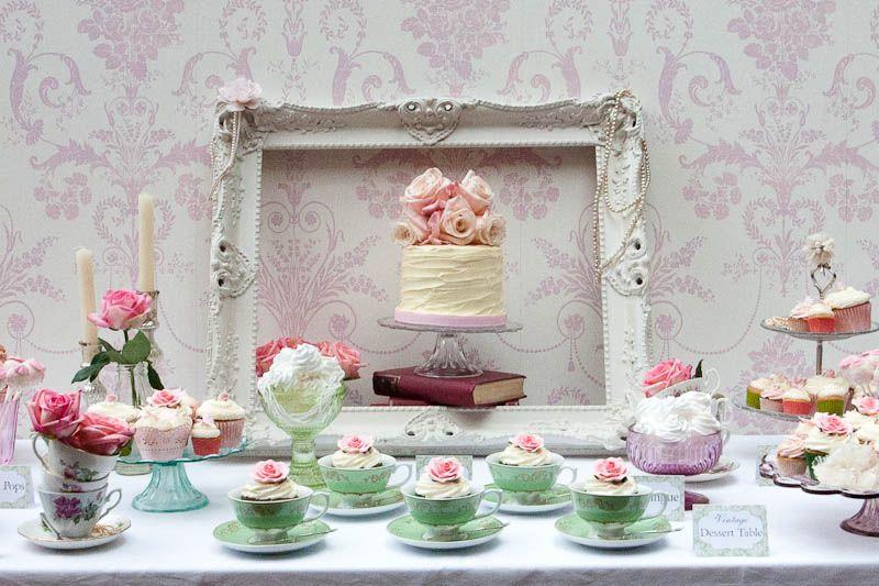 English dessert table setting   Tea Party   Pinterest   Dessert ...
