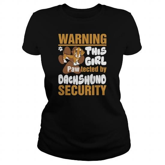 Awesome Tee This Girl Pawtected By Doberman Security  Womens TShirt T-Shirts