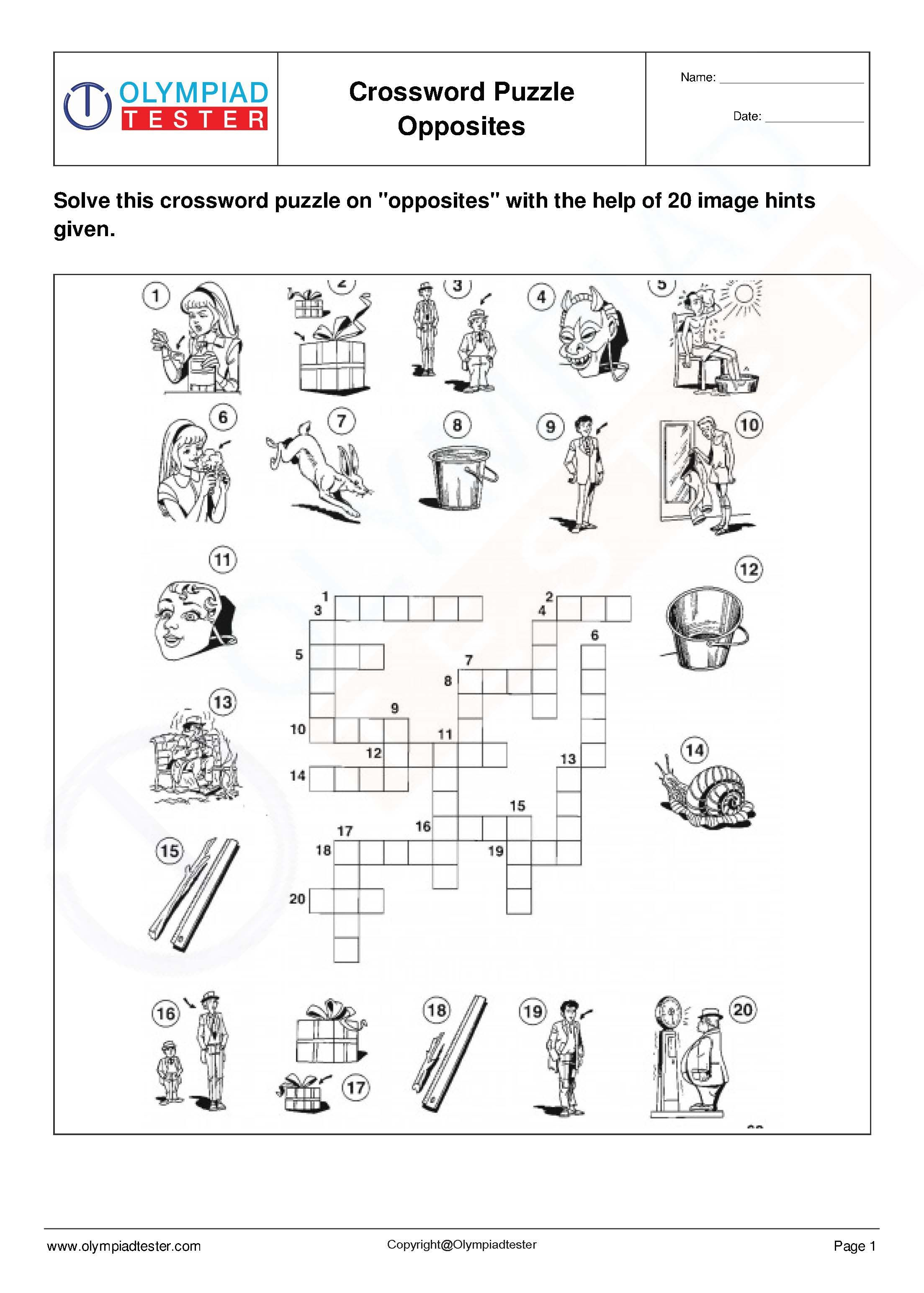 English Vocabulary Crosswords