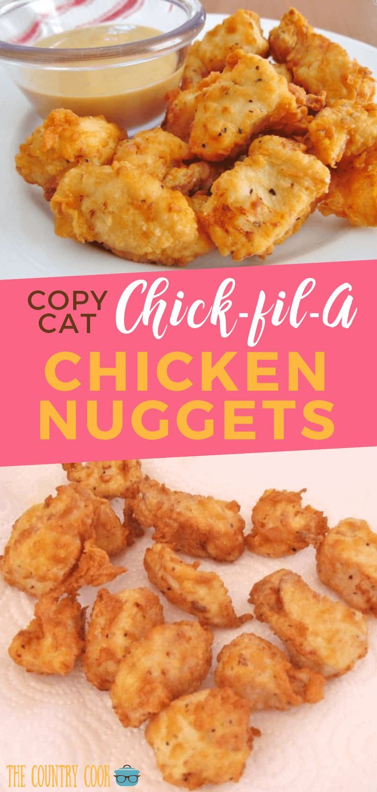 These Copy Cat Chick-fil-A Chicken Nuggets are a sure-fire HIT for any gathering. These are tender and juicy pieces of deliciousness made at home with ease! #Chicken #KidFriendly #Easy #CopyCatChickFilA