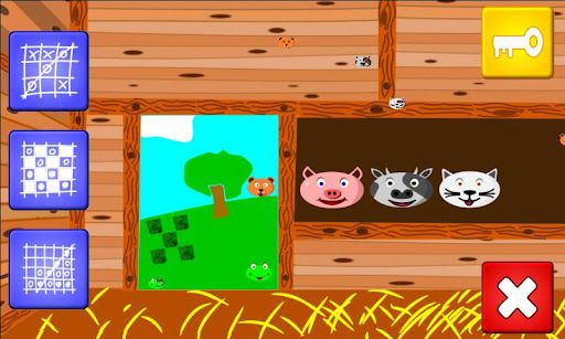 An educational game developed for kids to grow their intelectal capacity while having fun. It includes three games: tic tac toe, checkers and four in line, all of them full with kind characters and a nice environment inspired in the farm and nature.<p>This game contains no advertisements and it doesn´t need any permission to access internet, nor internal device storage or contact list, to ensure your complete tranquility.<p>Game main features:<p>- Includes the games: tic tac toe, checkers…