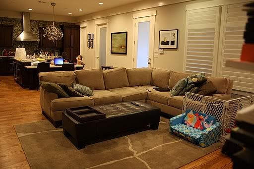 sectional family room design |  you buy a sectional? - home
