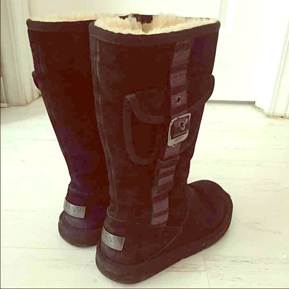 Listing not available. Tall Black Buckle Uggs ...