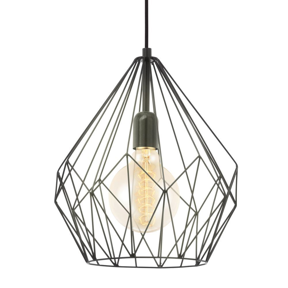 Vintage Black Open Cage Pendant Light