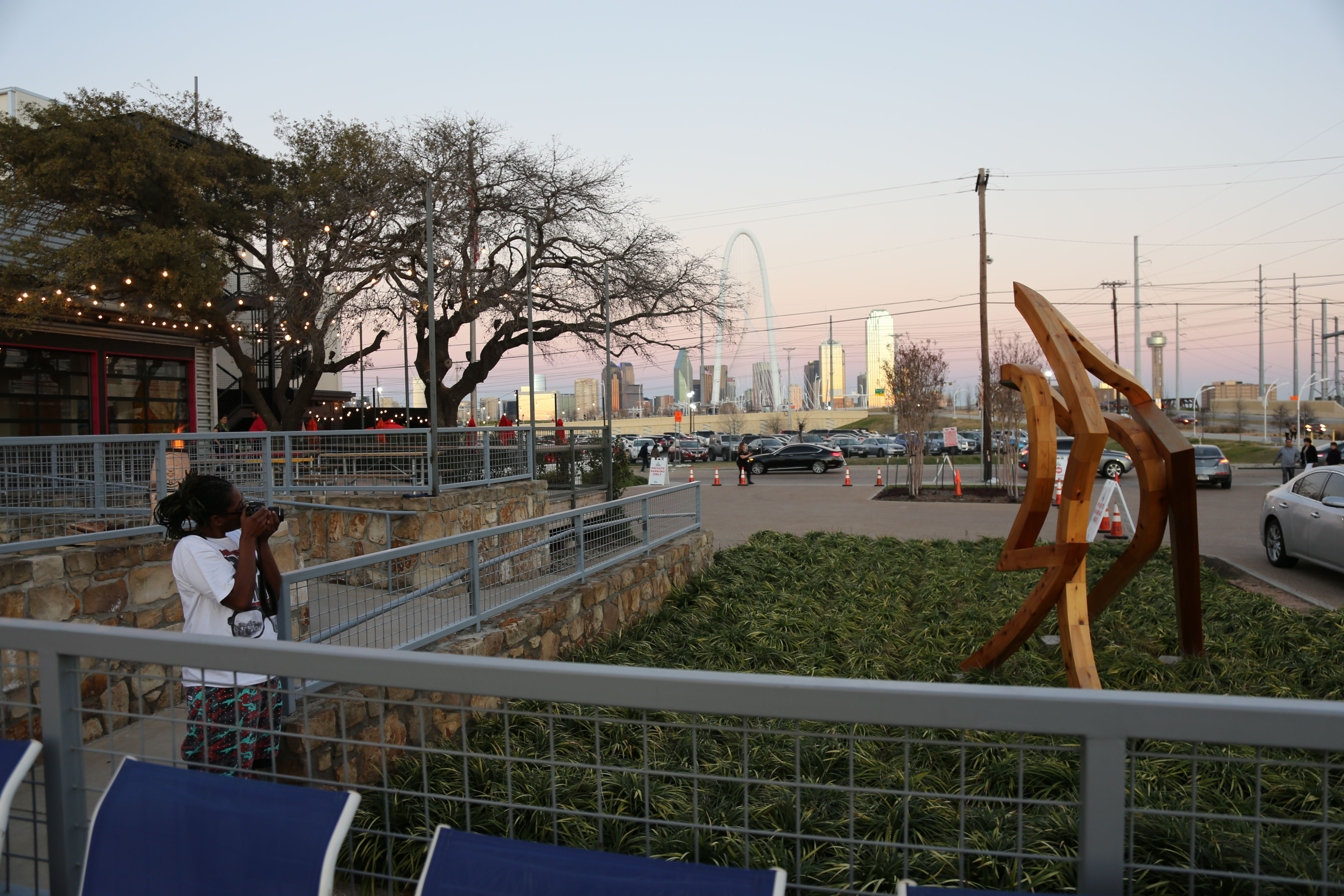 Trinity Groves, West, Dallas, Patio, Margaret Hunt Hill Bridge, Skyline,