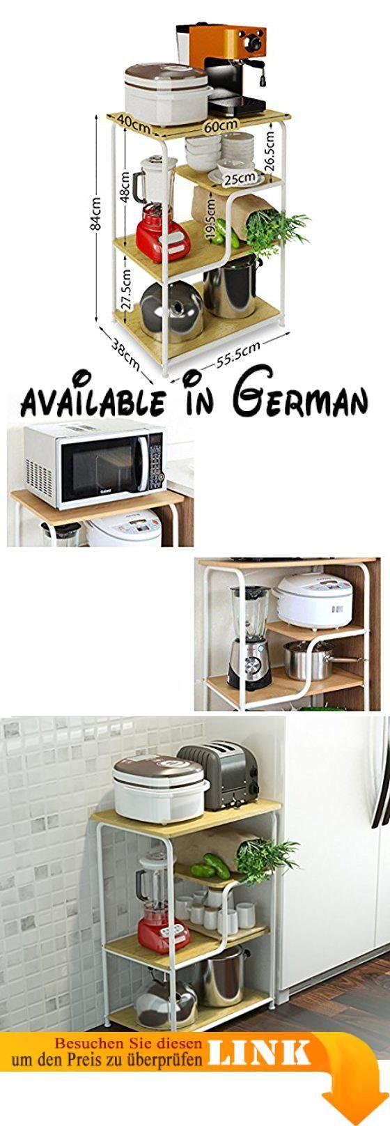 B078V2WJ9Q : Küche-Regal-Boden-Mikrowellen-Speicher-Regal 4-stöckige ...