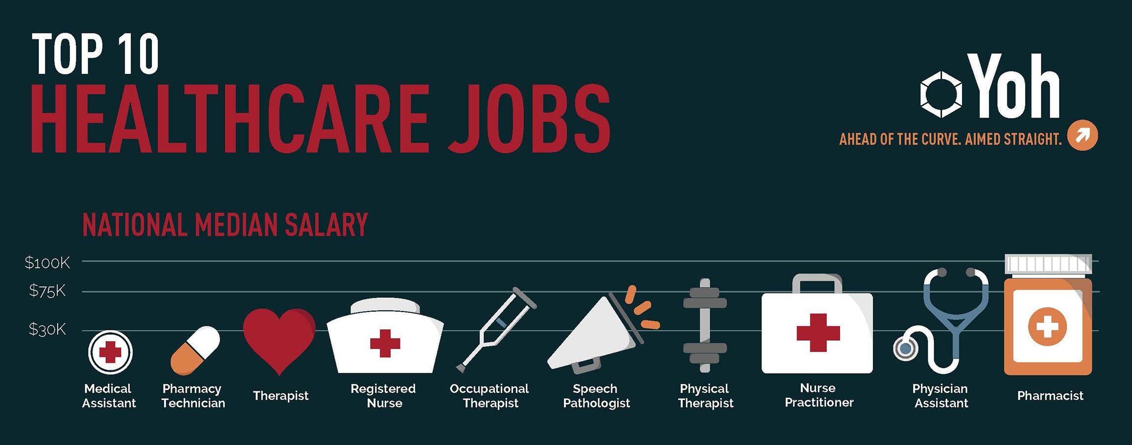 Top 10 Healthcare Jobs Infographic Healthcare Jobs Health Care Infographic