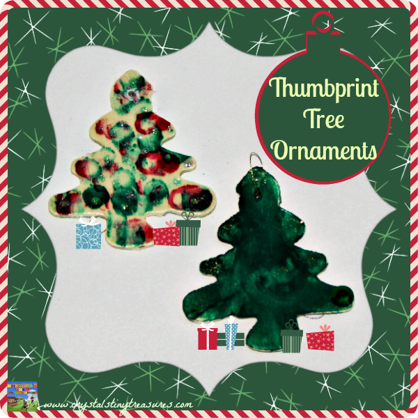 Wooden Fingerprint Tree Ornaments:  A momento to cherish for years to come - Crystal's Tiny Treasures