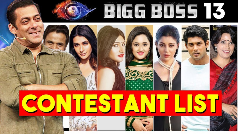 Bigg Boss 13 Contestants List With Photos Watch Bigg Boss Season 13 Live Online Premiere On 29 September With Salman Khan As Bb1 Boss Latest Movies Comedians