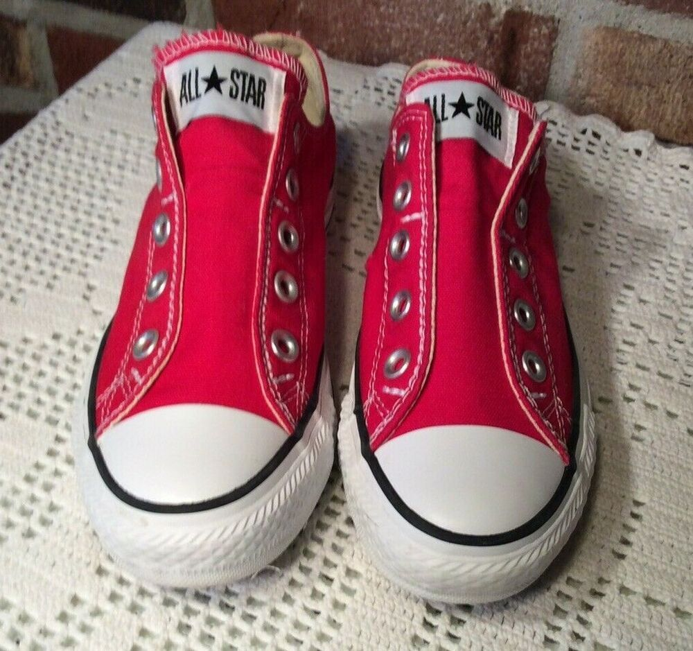 Converse Chuck Taylor All Star Low Top Unisex Red Slip On Men 3 Wo 5 Vgc Converse Lowtop Converse Chuck Taylor Chuck Taylor Shoes Chuck Taylors