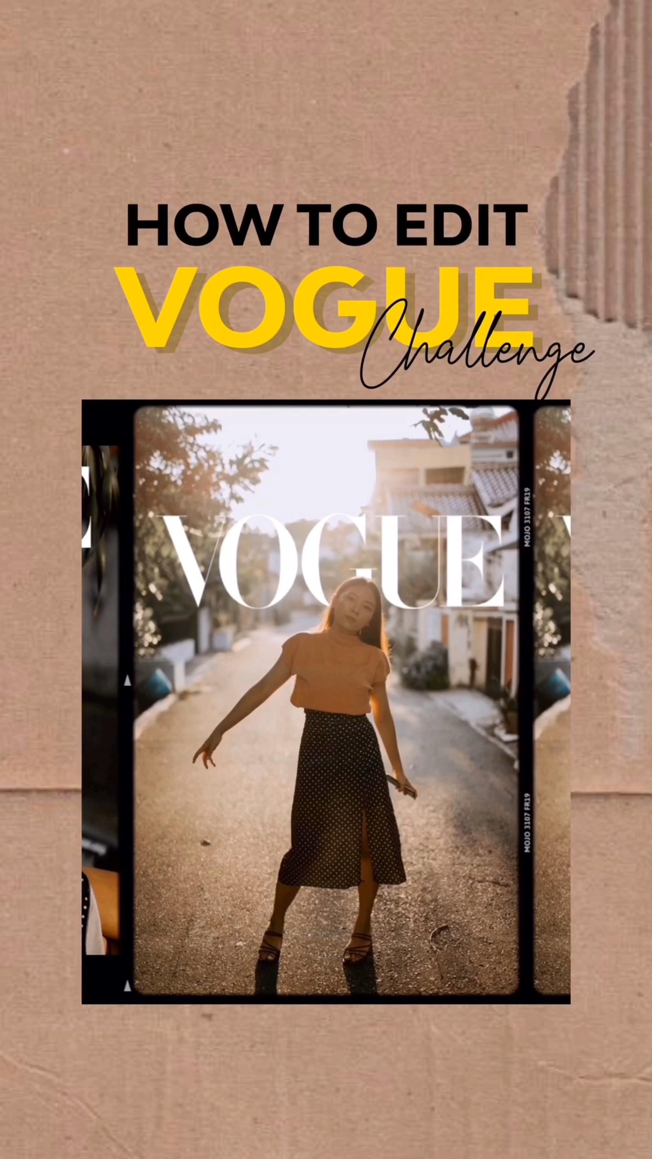 How To Edit Vogue Challenge Video Instagram Editing Challenges Instagram