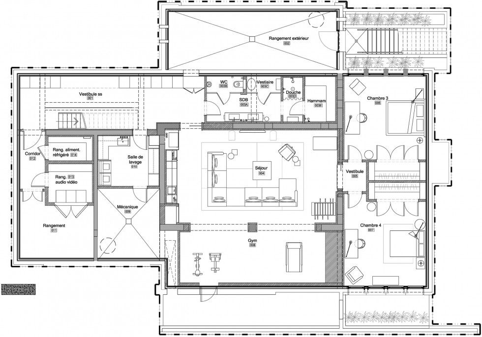 Architecture Sketch Second Floor Iron Lace Modern House Design