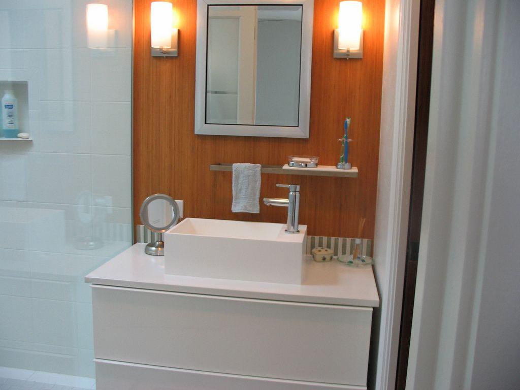 bamboo plywood installed in a bathroom | bathroom design